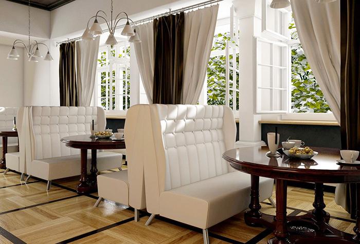 Контрастные шторы шоколадного и бежевого оттенков