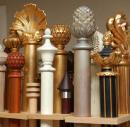 Разновидности круглых деревянных карнизов