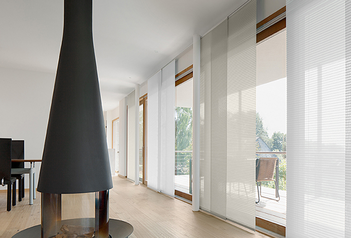 Панельные занавески в стиле скандинавского минимализма