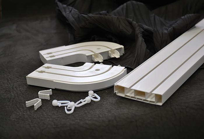 Комплектующие потолочного карниза из пластика