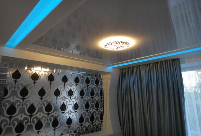 Скрытый потолочный карниз для штор