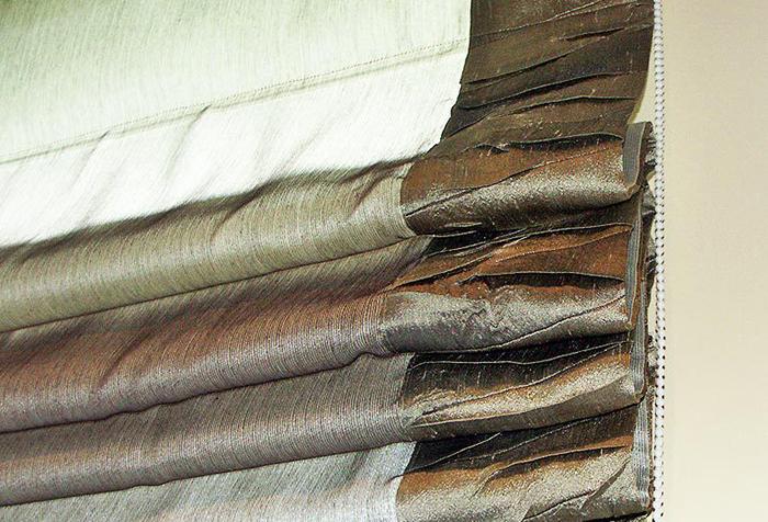 Римская штора из плотных тканей