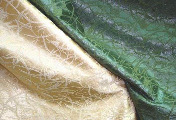 Два цвета портьерной ткани
