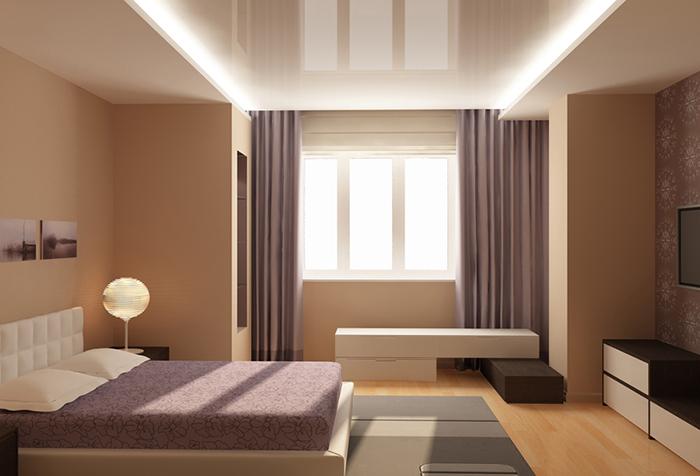 Соответствие портьер другим элементам интерьера в спальне