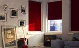 Красные рулонные шторы из ткани блэкаут