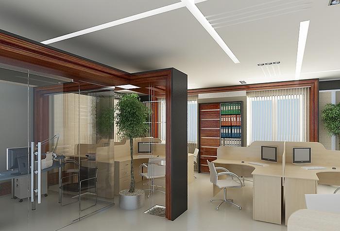 Вертикальные жалюзи в интерьере офиса