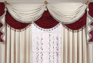 Как своими руками сшить шторы с элегантными ламбрекенами?