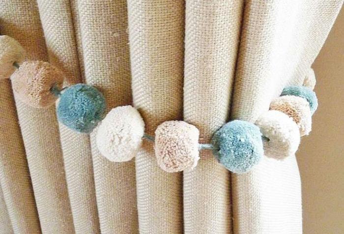 няной шторы, сделанный своими руками