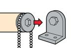 Схема установки рулонной шторы на кронштейны