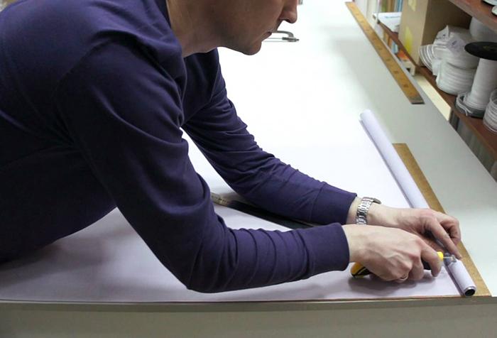 Изменение ширины рулонной шторы