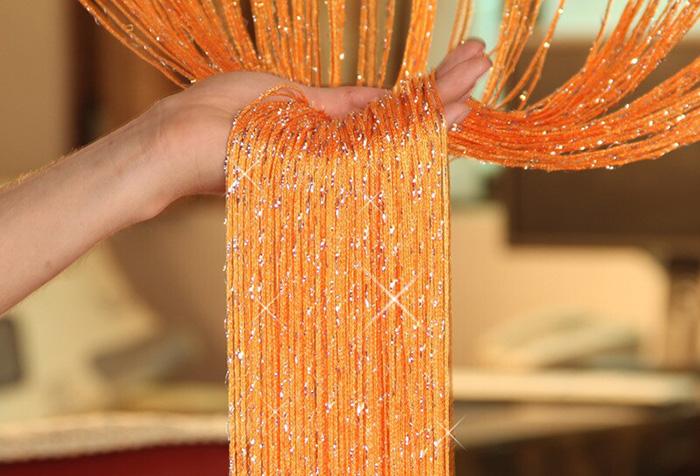 Оранжевая кисея с люрексом