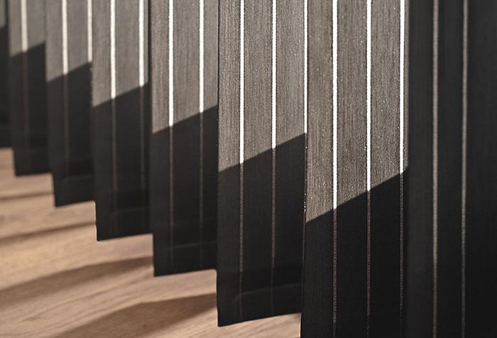 Вертикальные ламели из ткани блэкаут