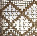 Узор вязанной крючком шторы для кухни