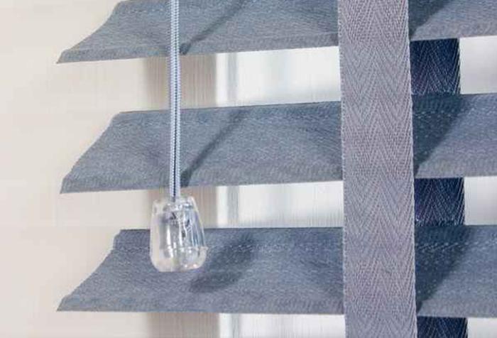 Самодельные горизонтальные жалюзи из ткани