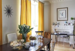 Особенности и варианты использования желтых штор