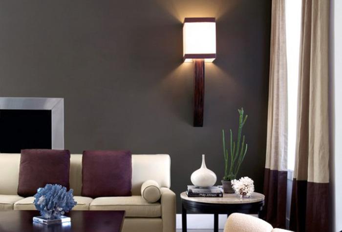 Двухцветная штора в современном интерьере