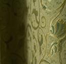 Зеленая гобеленовая ткань для портьеры