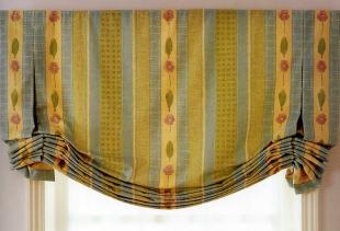 Технология пошива и декорирования лондонских штор
