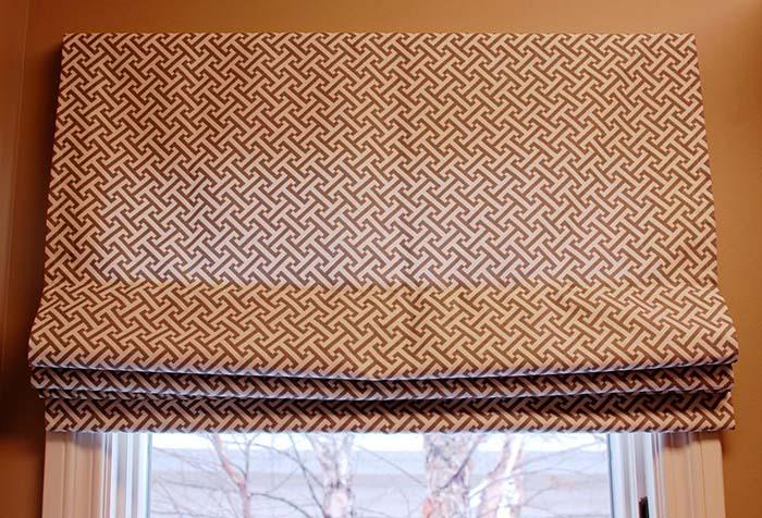 Идеально выглаженная римская штора