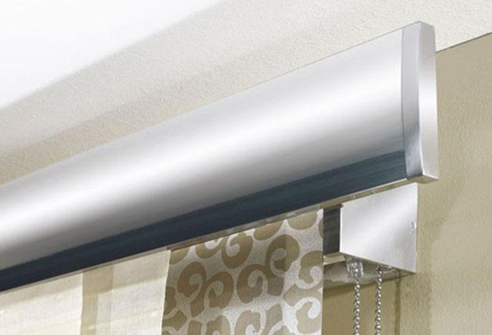 Алюминиевый карниз для японских штор