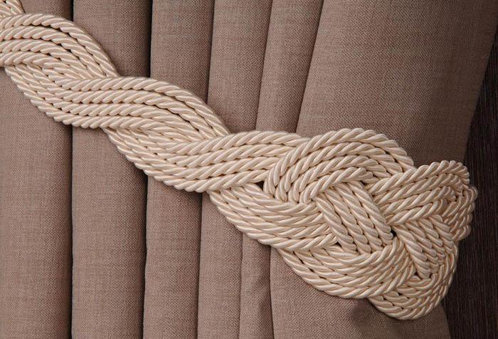 Плетеный подхват для шторы