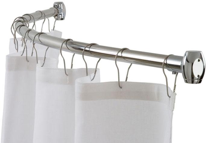 Полукруглый стальной карниз со шторкой для ванной