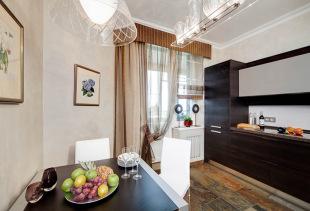 Виды односторонних кухонных штор, их особенности и достоинства