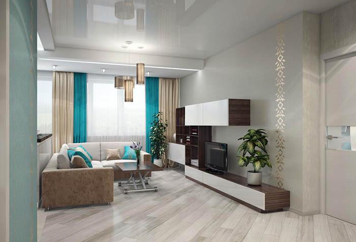 Гармония штор и интерьера гостиной