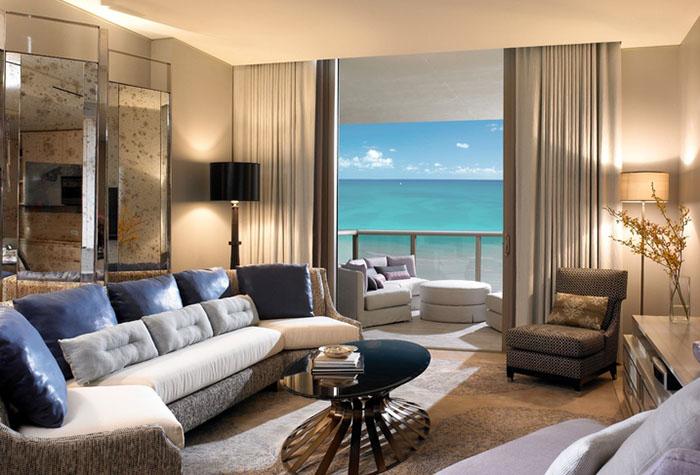 Бежевый цвет в интерьере современной гостиной