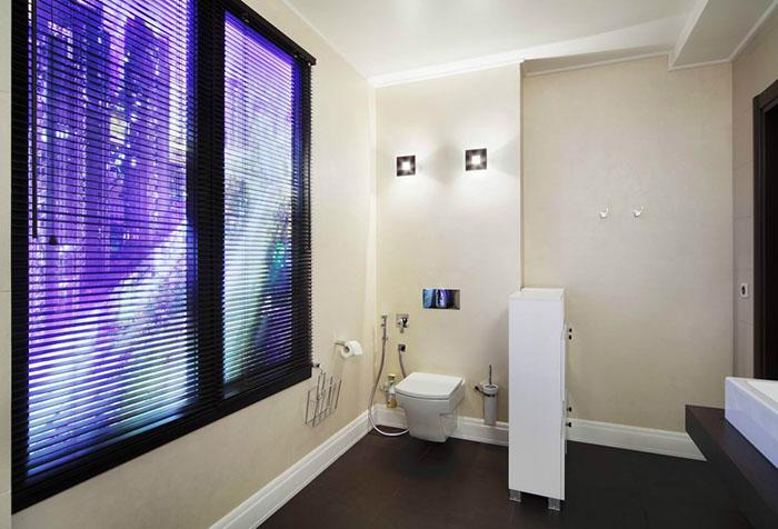 Цифровые фальшокна в ванной