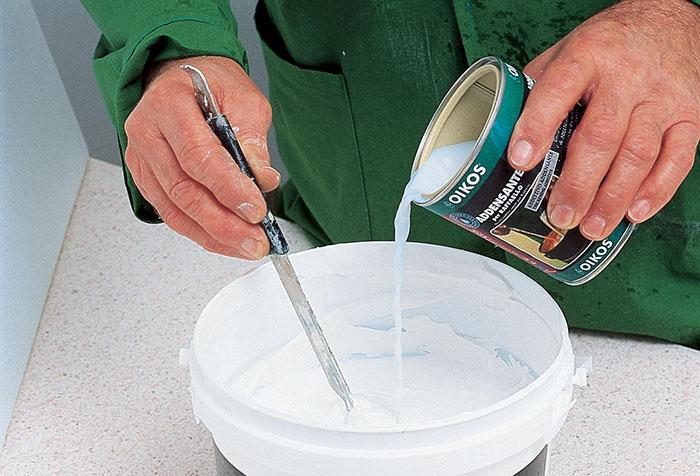 Подготовка краски для окон