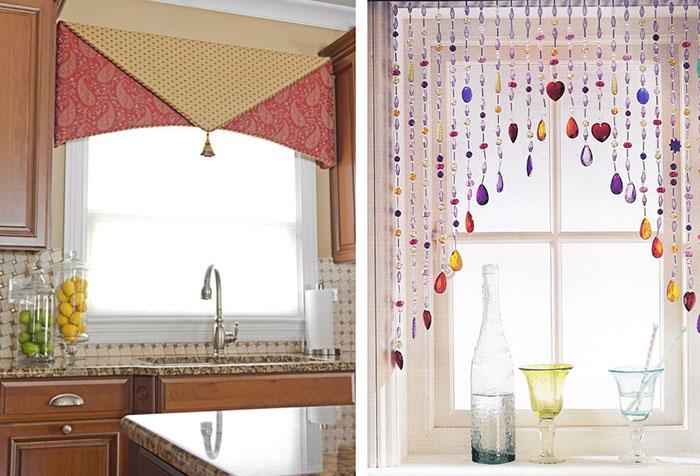 Украшение кухонного окна