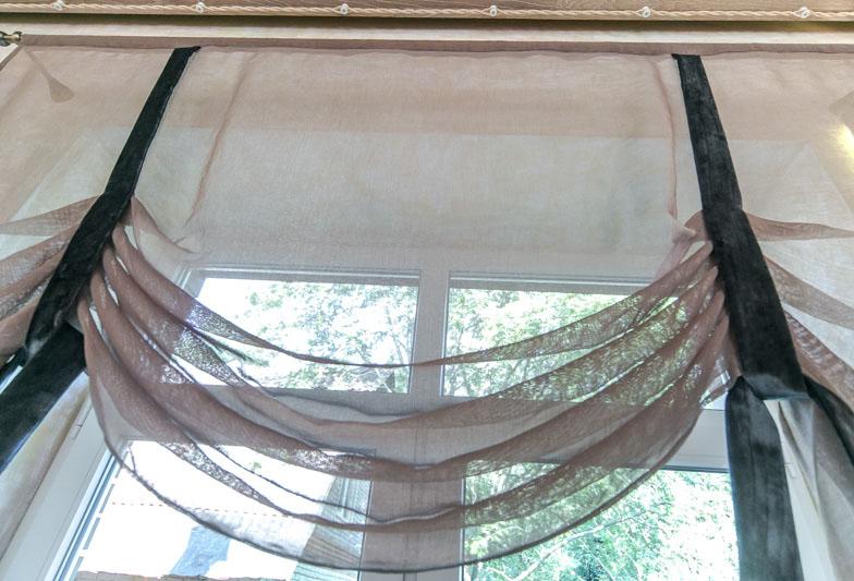 Натуральная ткань для австрийской шторы