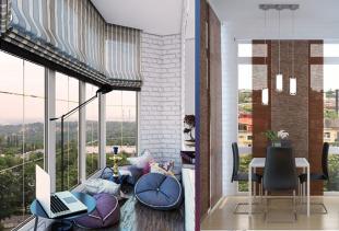 Какие шторы выбрать для французского балкона?