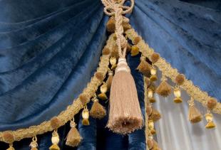 Как оформить шторы эксклюзивными кистями и бахромой?