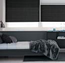 Стильные шторы плиссе в спальне