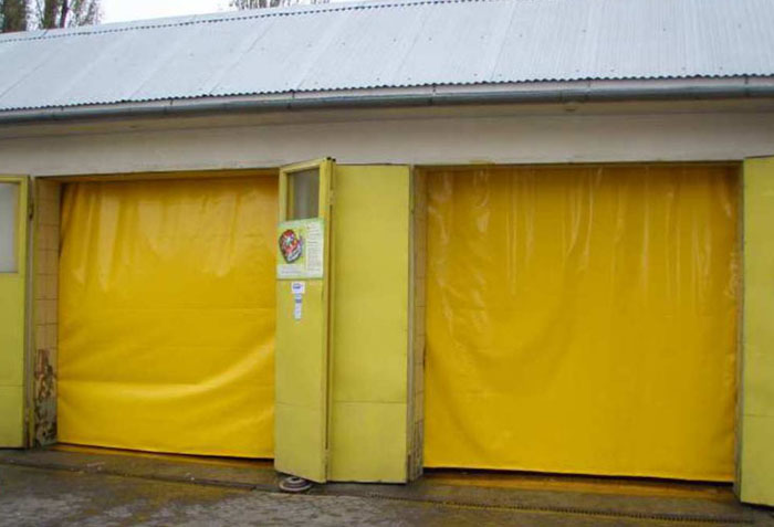Желтые гаражные шторы