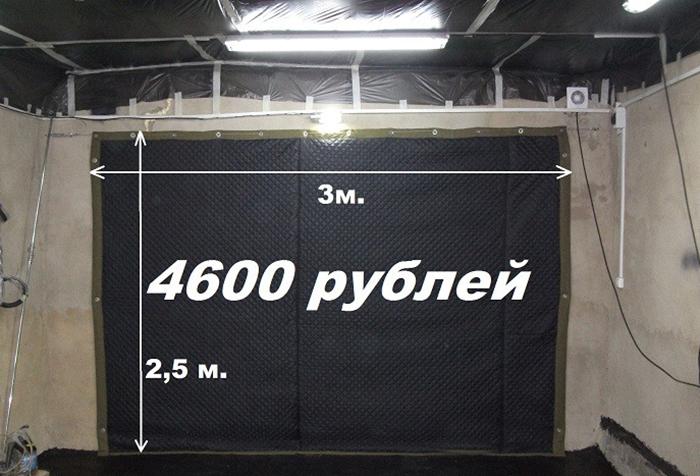 Размеры и цена гаражной шторы