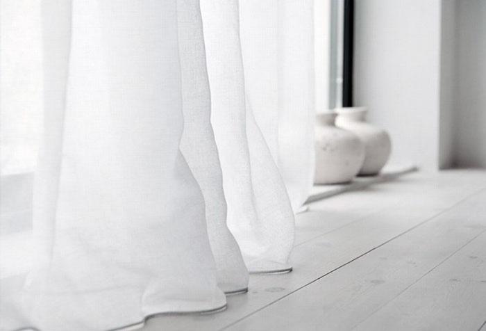Белые хлопковые шторы