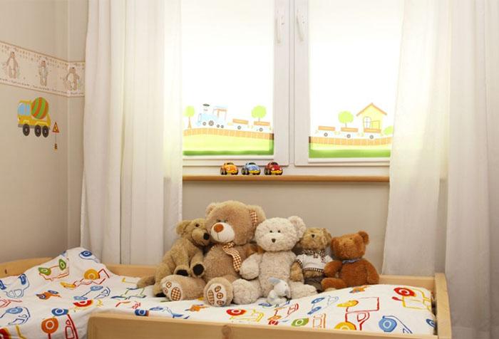 Рулонные шторы и тюль в детской