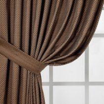 Элегантные коричневые шторы: виды, дизайн, сочетания