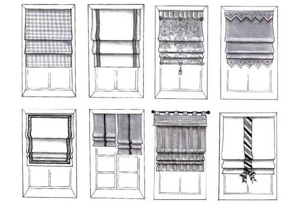 Разновидности римских штор